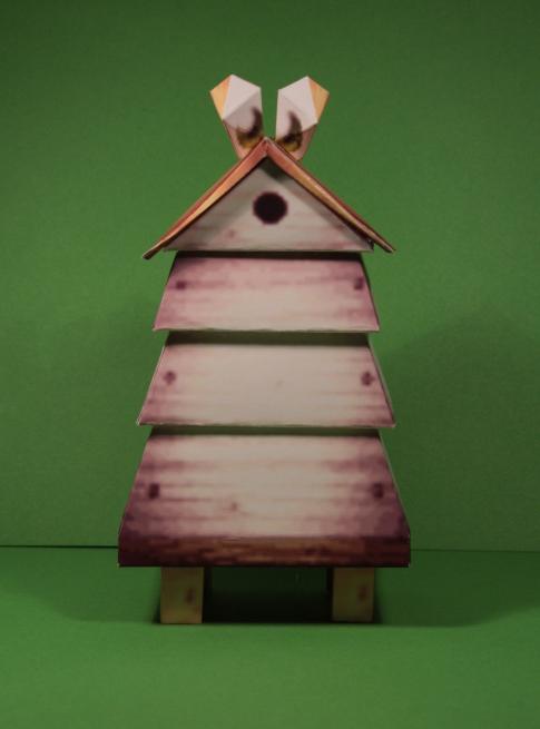 Beehive papercraft by Drummyralf