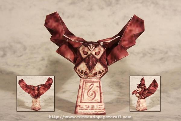 Owl Statue Papercraft by Drummyralf