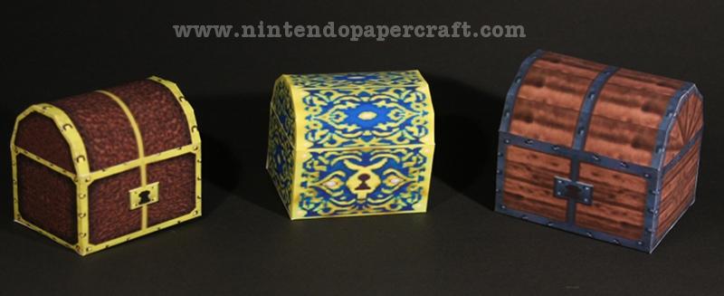Treasure Chest papercraft by Drummyralf