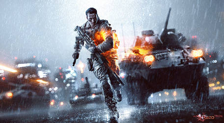 Battlefield 4 (Without Logo/Title) by RazoTRON