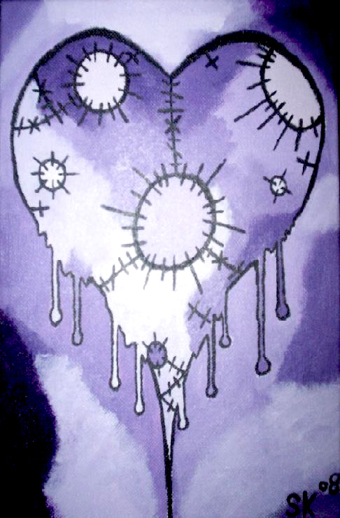 Purple Broken Heart