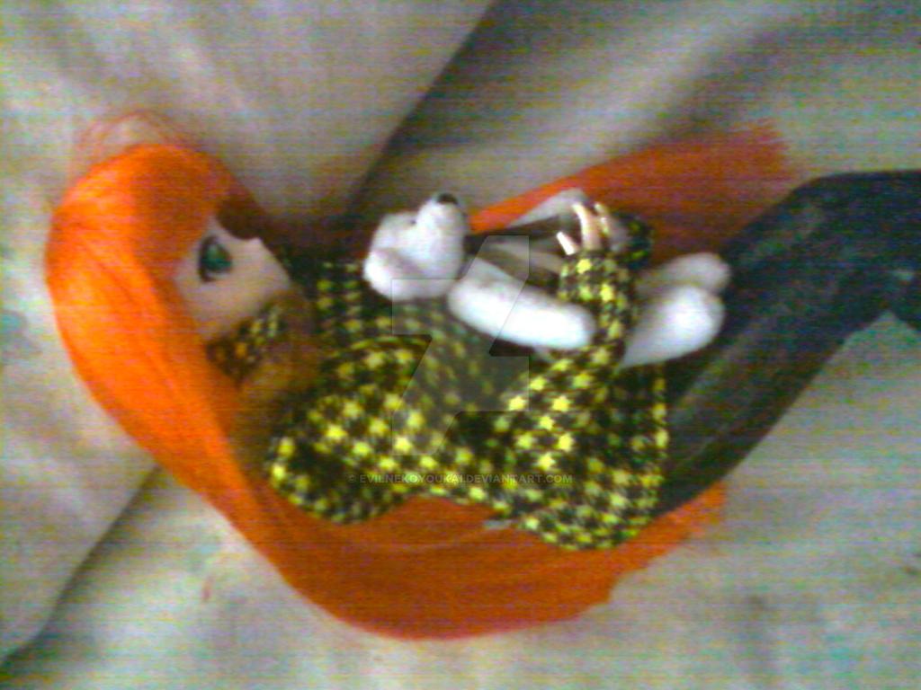 Cuddling With Teddy by EvilNekoYoukai