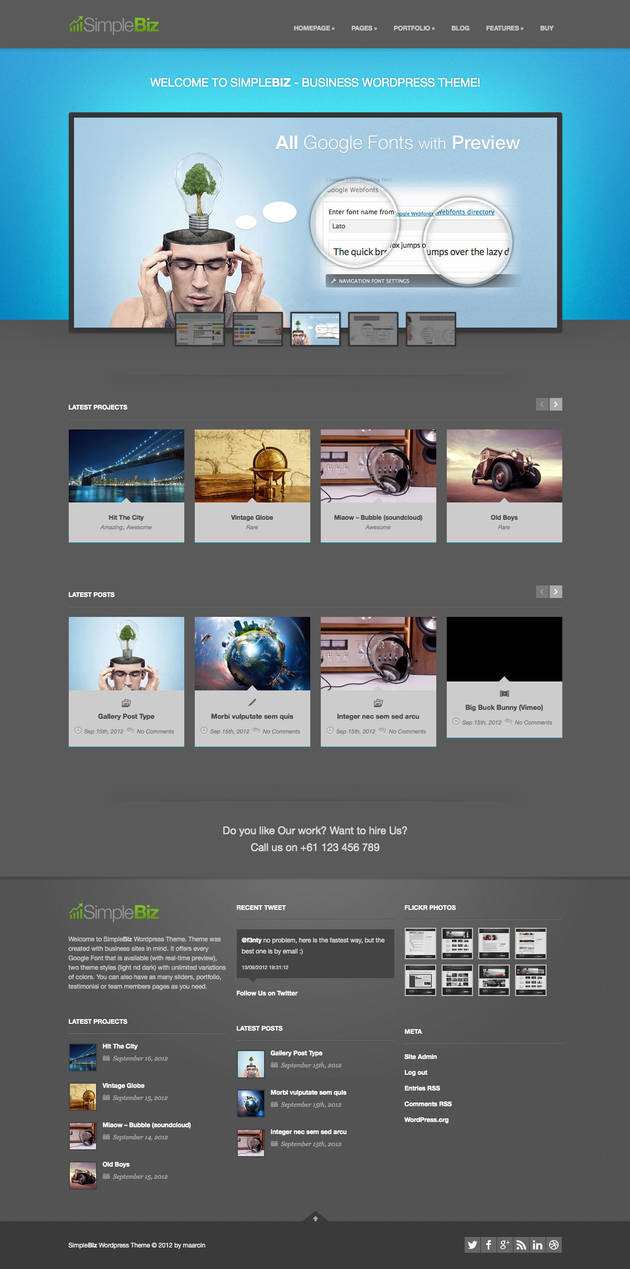 SimpleBiz Wordpress Theme