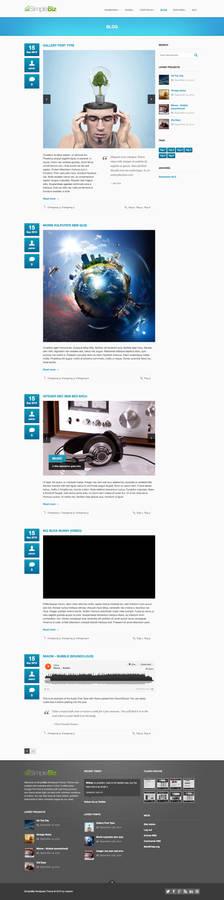 SimpleBiz Wordpress Theme - Blog layout