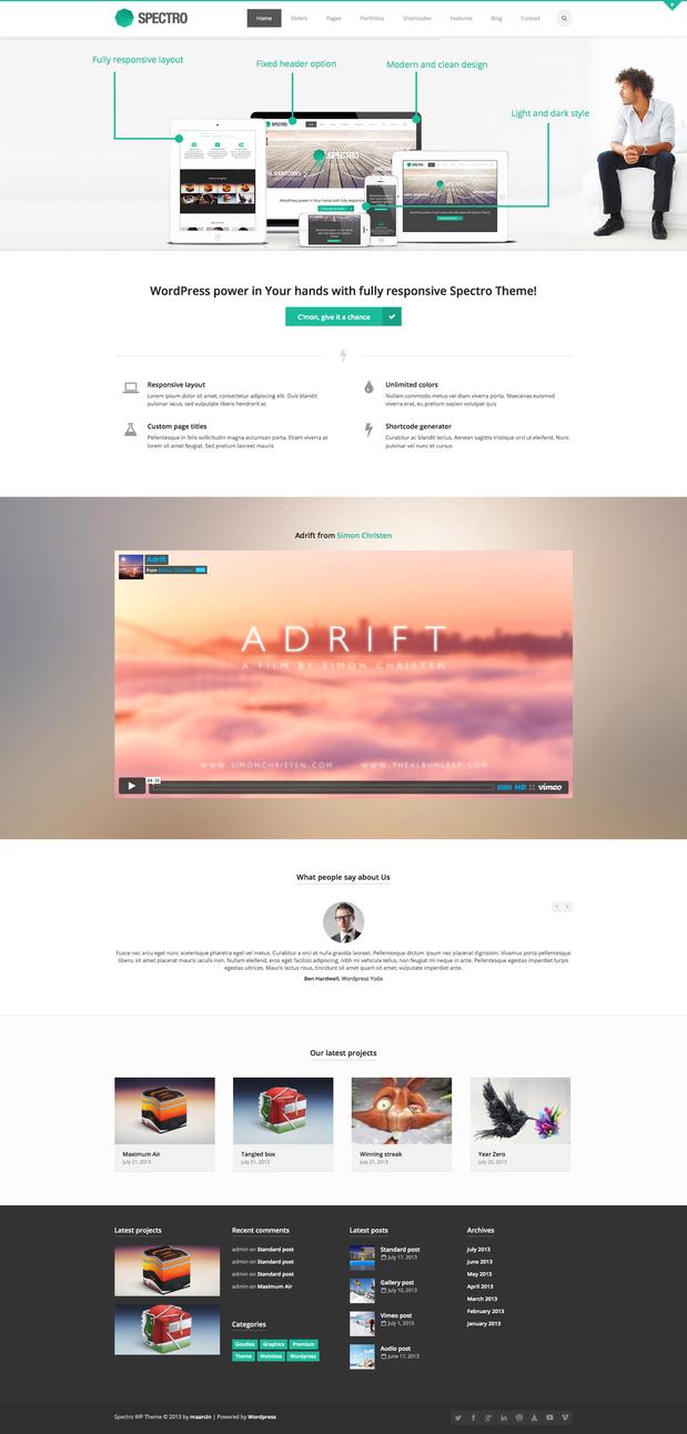 Spectro Wordpress Theme