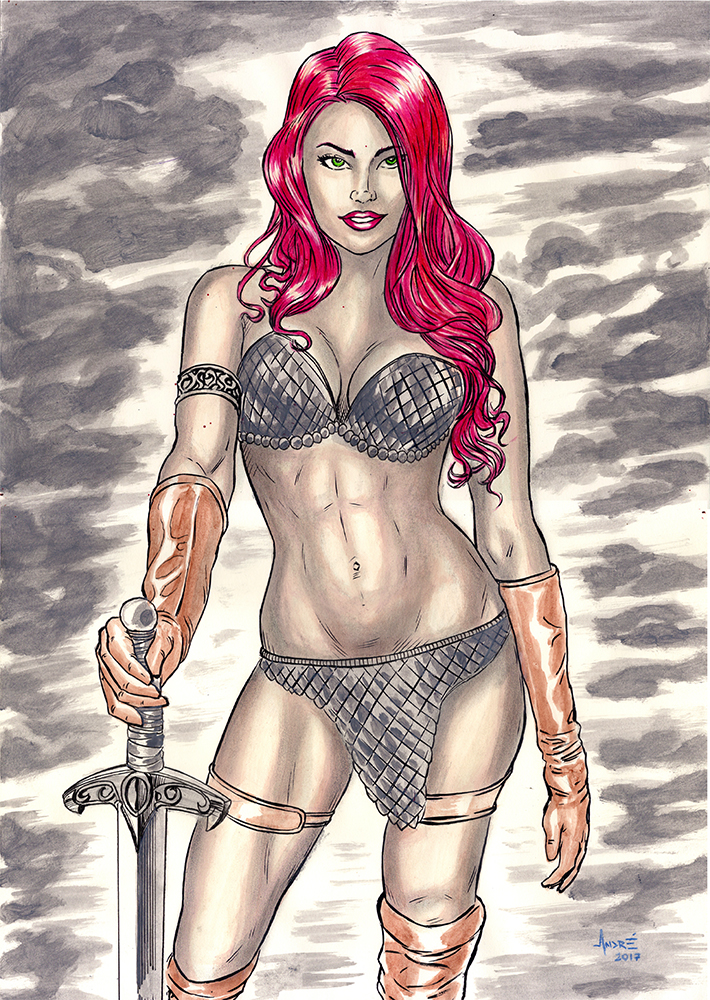 Red Sonja by ANDREWCOTINGUIBA