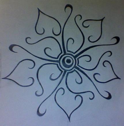tribal flower by krash1111 on deviantart. Black Bedroom Furniture Sets. Home Design Ideas