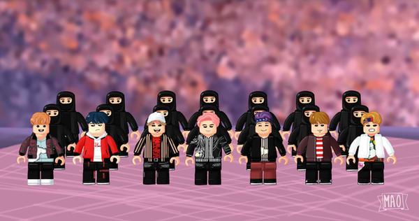 BTS Not today LEGO by Caroline-Korsakov