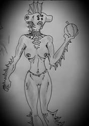 hammerhead lady by benestro138