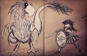 Hoplite -v- Terror Bird