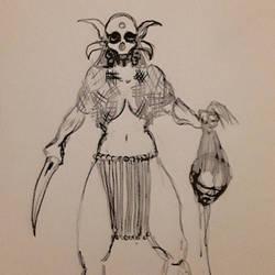 Death Cult Priestess sketch