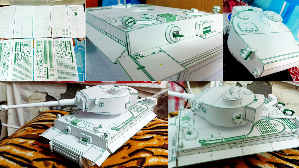 how to make a paper tank model
