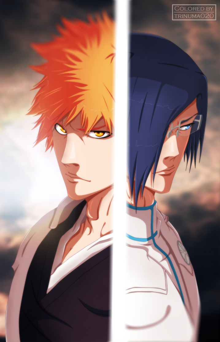 Bleach 640 - Ichigo vs Uryu [Coloring] by II-Trinuma-II