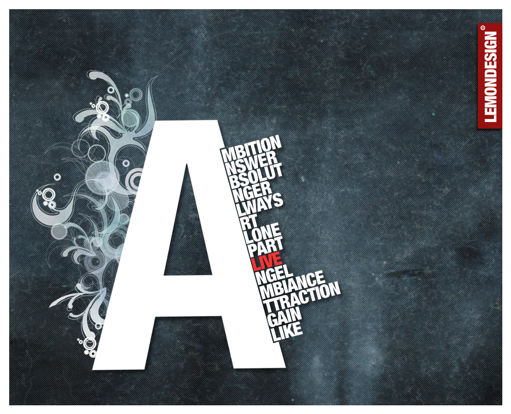Typography-A by lemondesign