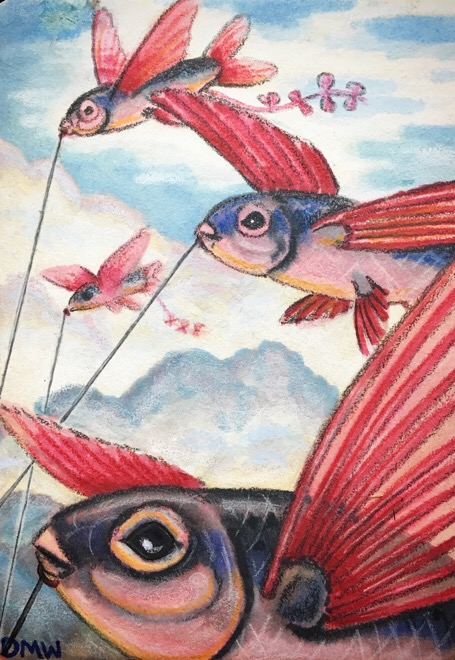 ACEO: Flying Fish by DanielleMWilliams