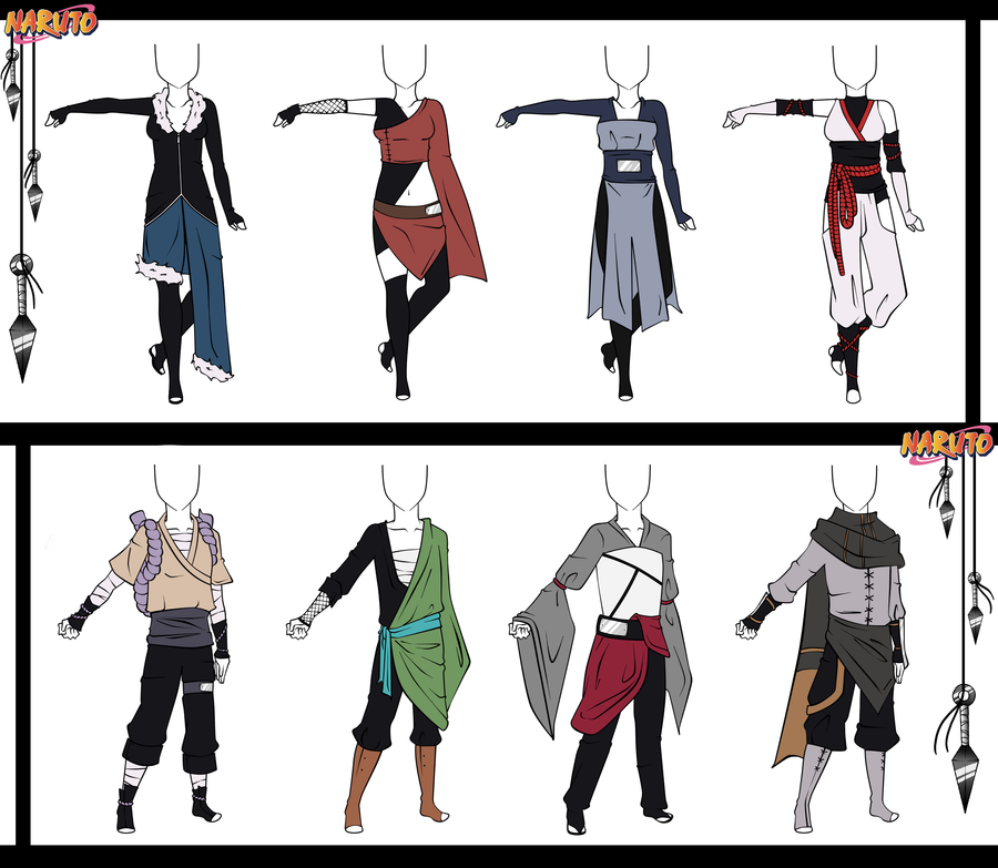 Naruto Adoptable Outfit Set 12 - Closed by Orangenbluete