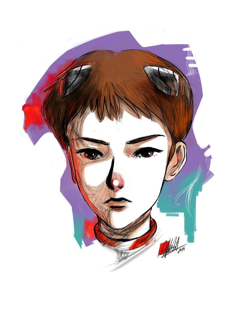 Evangelion Tribute : Shinji by keichi-kun89