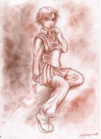 Manga school girl by Solusemsu