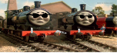 Donald and Douglas: Engines in black by Startoursfan21