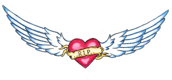 R.I.P - chest tattoo