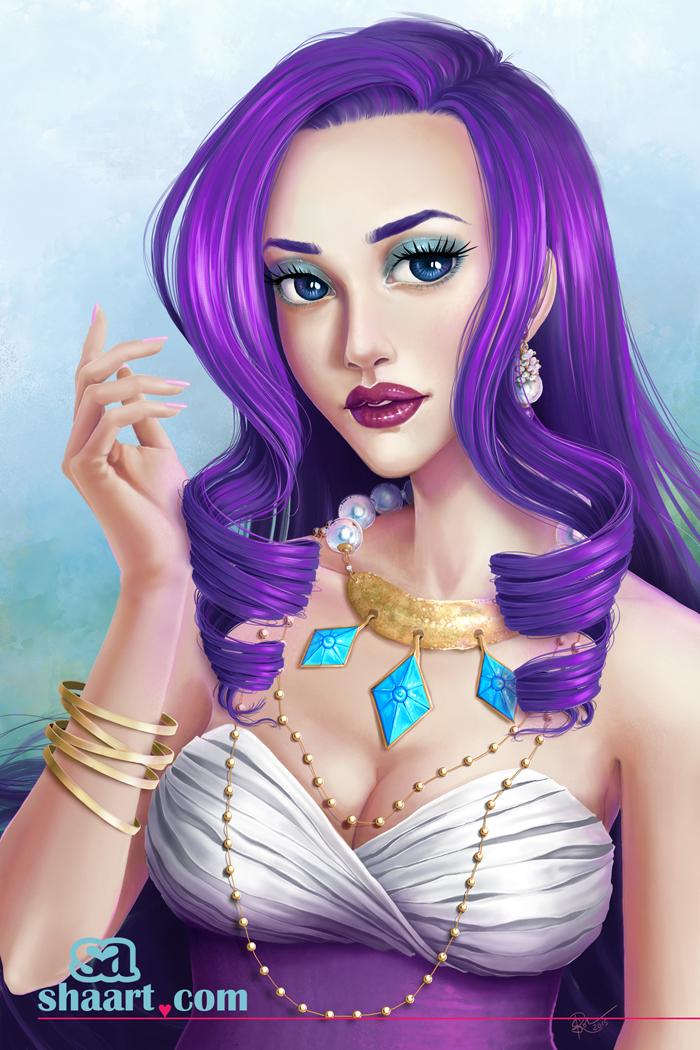 Rarity - Human Form - The Diva by sha-arts