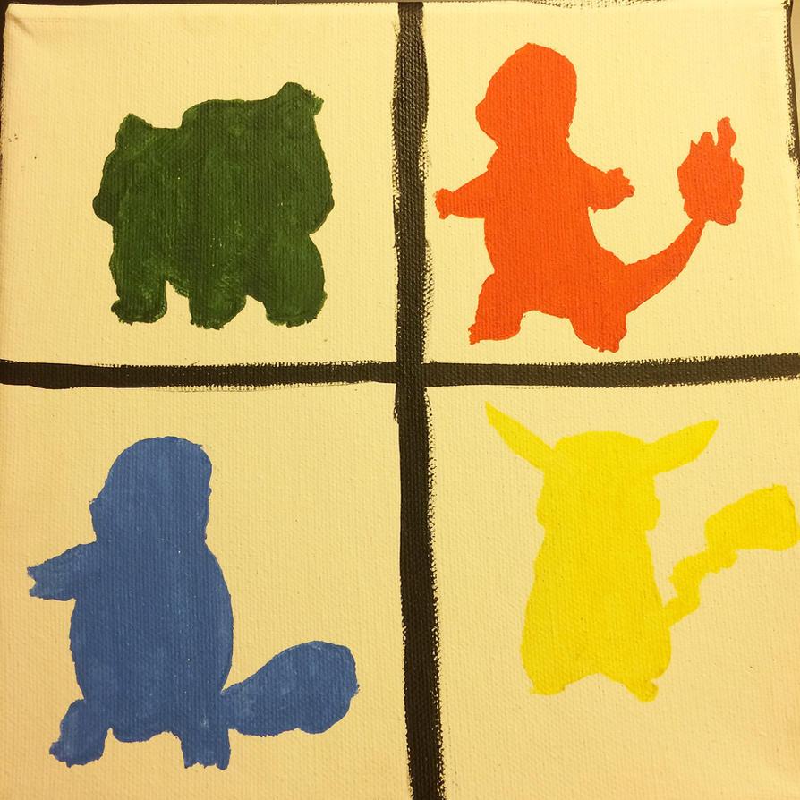 Pokemon silhouettes by Mecquita