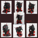 Red and Black Dragon with coin