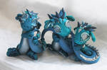 Silver and Turquoise Dragons