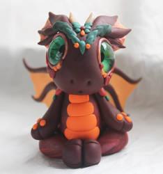 Bitty Baby Dragon Meditating by BittyBiteyOnes