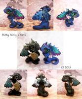 Dragon Couple - Custom order by BittyBiteyOnes