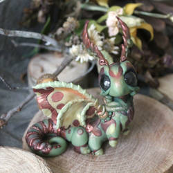 Bronze and Green Moth Dragon by BittyBiteyOnes
