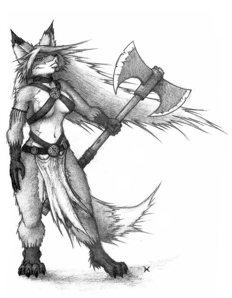 Foxy Axe by 5hape5hifter