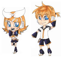 Rin and Len by KearaLemon