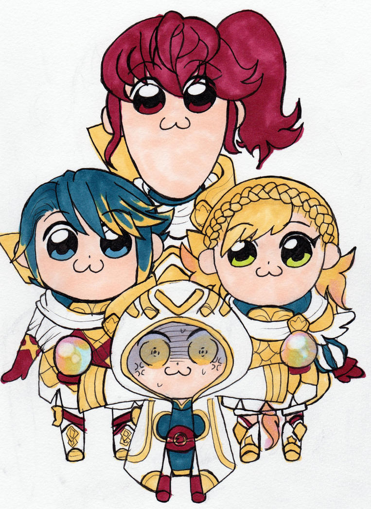 Askr Squad Pop Team Epic Style by KearaLemon