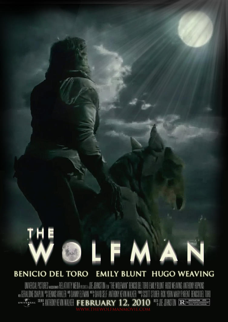 the wolfman - 2nd fan posteralecx8 on deviantart