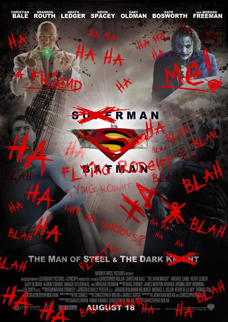 Superman Batman Poster Joker by Alecx8