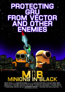 Minions in Black Poster