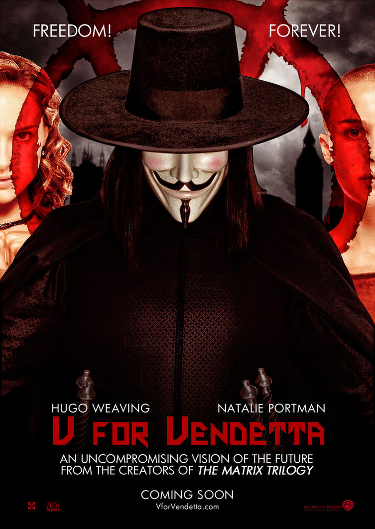 change in v for vendetta juxtaposed Change password sign out my t he comic-book writer alan moore is not usually surprised when his creations find a life for v for vendetta tells of a.