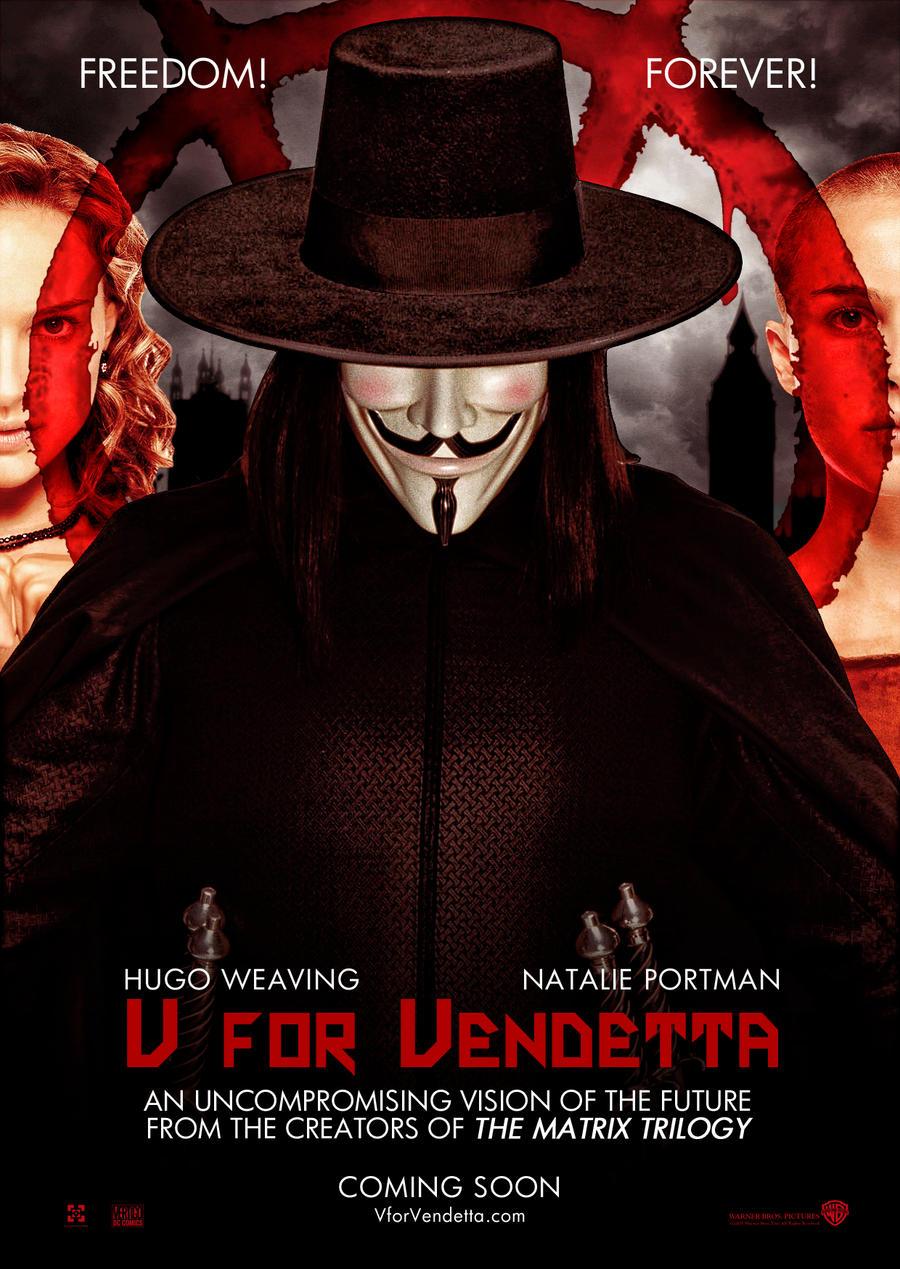 V for Vendetta by Alecx8  V For Vendetta Movie Poster
