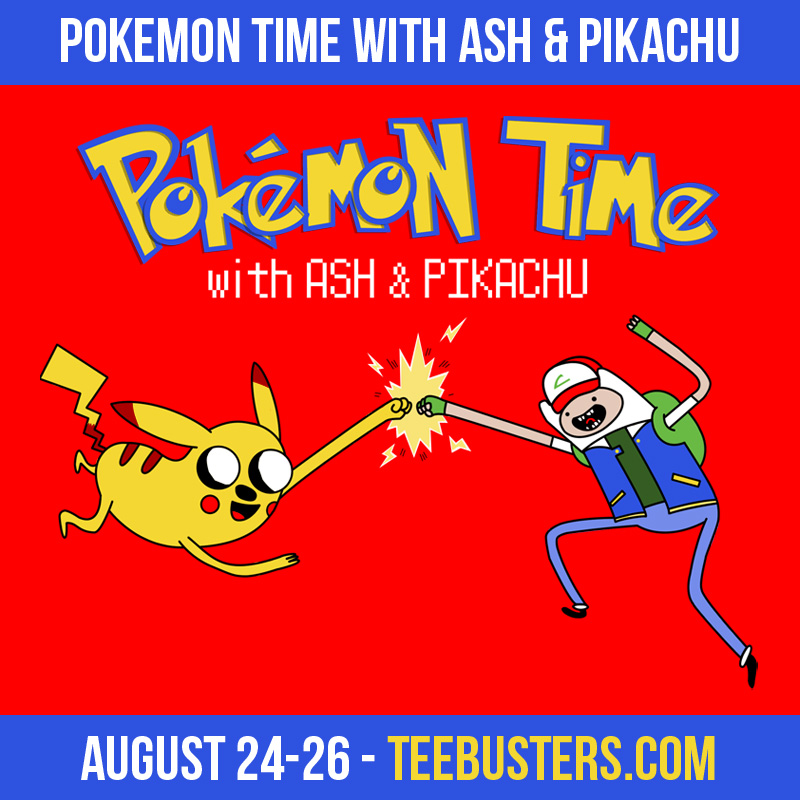 Pokemon Time with Ash nd Pikachu - vote TeeBusters by Alecx8