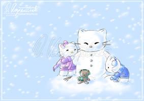 Playing in the Snow by Kopanitsak