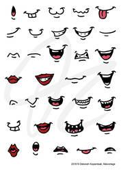 Cartoon Mouths by Kopanitsak