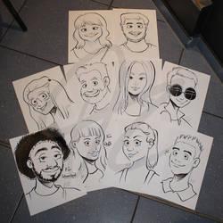 Otacon Cartoon Portraits by Kopanitsak