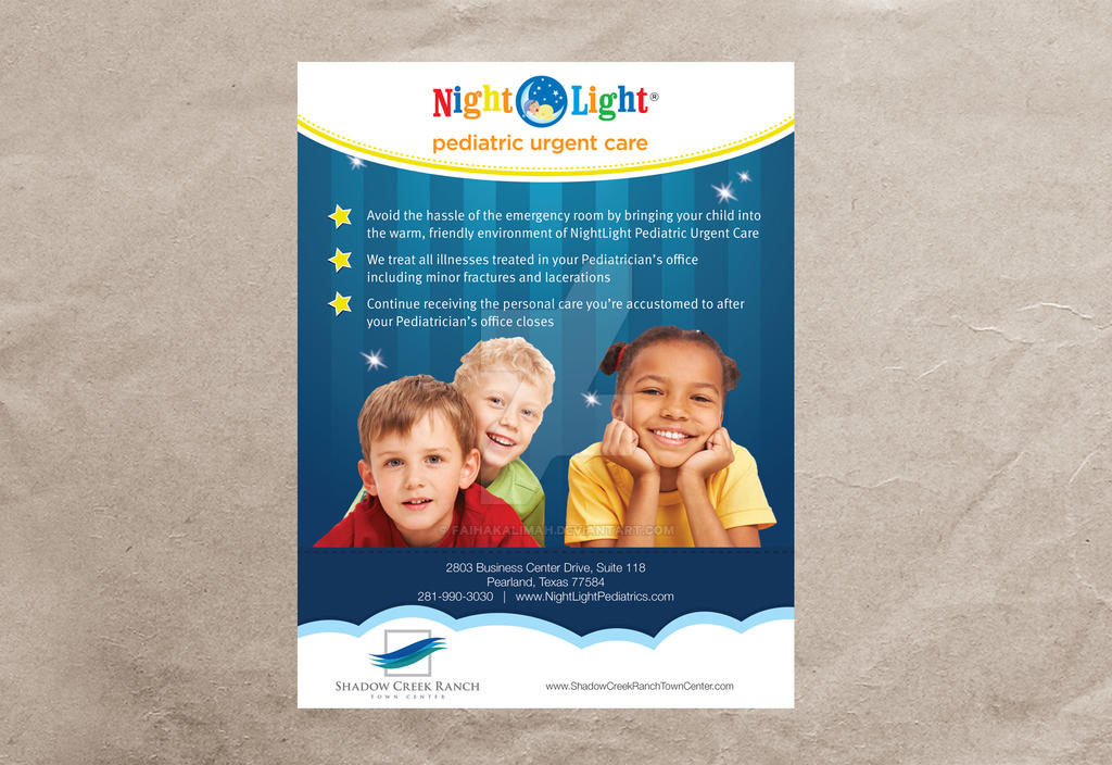 Superior Night Light Pediatric Urgent Care Mock Up By Faihakalimah ...