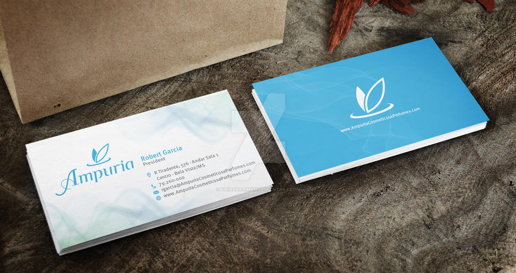 Ampuria Cosmeticos e Perfumes Business Card Mocku by faihakalimah on ...