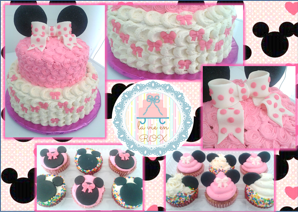 Minnie Mouse frosting cake by roxmarie on DeviantArt