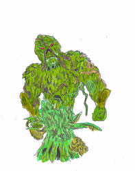 Swamp Thing Dryad by Solarzilla