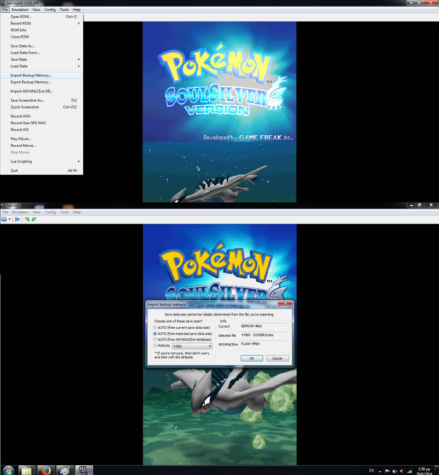 pokemon platinum how to trade using emulator