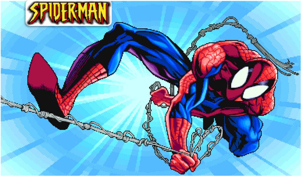 SpiderMan capcom Marvel Super Heros by camdencc
