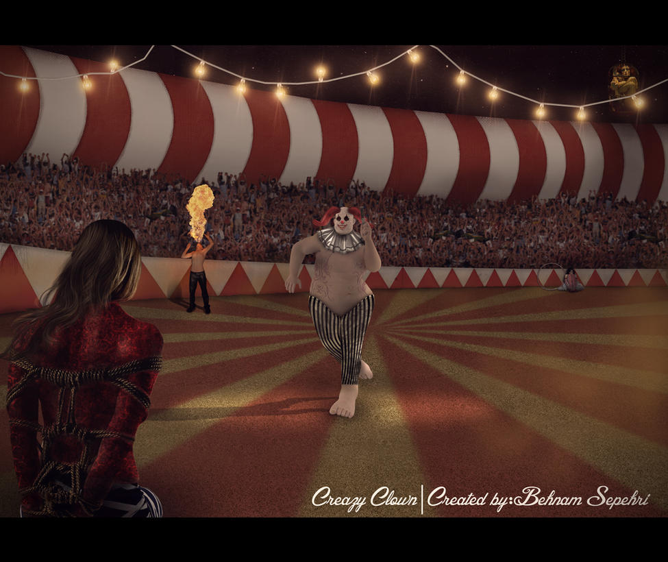 Crazy Clown by behnam-sep